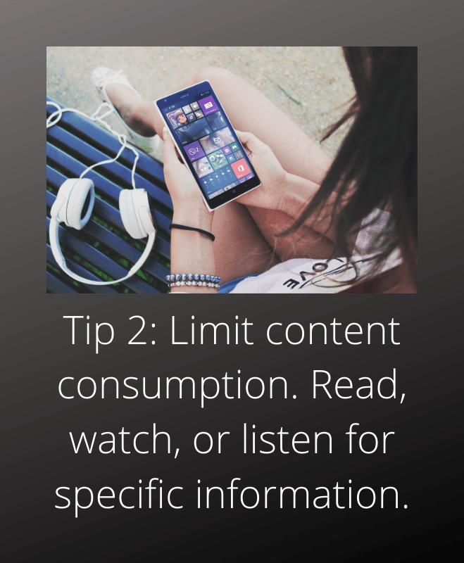 anxiety coach toronto tip 2 consume content for specific information