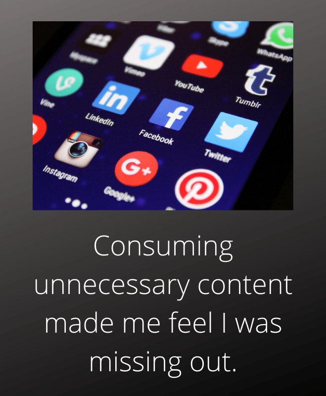 uncontrolled content consumption caused anxiety
