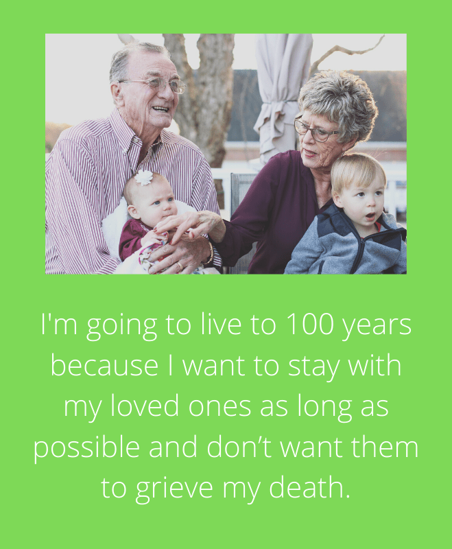 Live to 100 years reframe for health