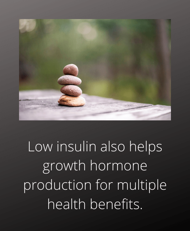 Low insulin helps growth hormone production