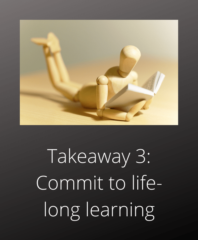 Motivation technique Total Recall Arnold Schwarzenegger takeaway 3 commit to learning