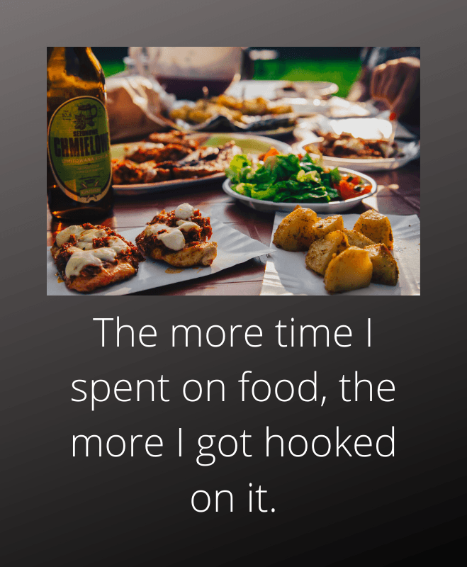 Overeating - more time spent on food leads to addiction