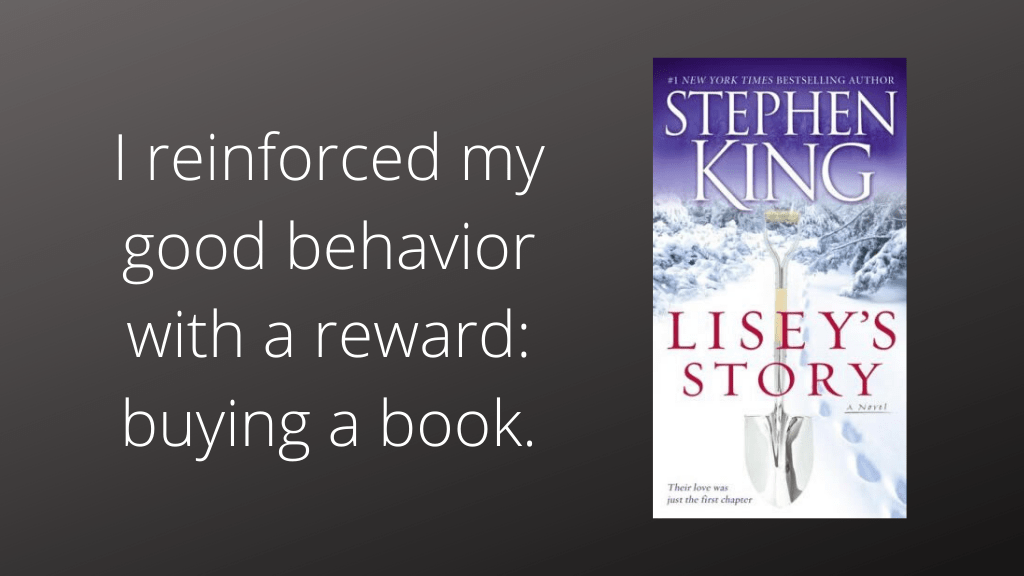 Overeating reinforcing good behavior with a reward
