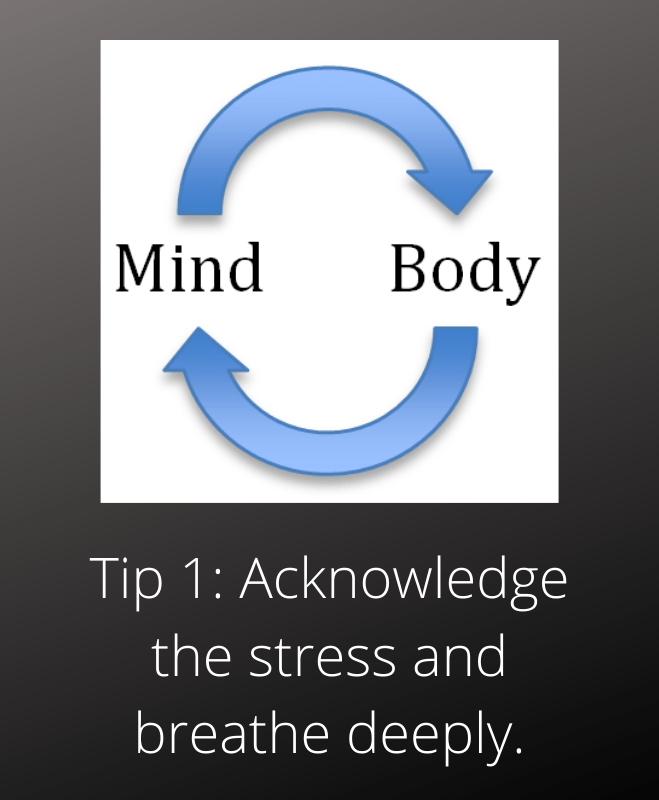 stress management toronto tip 1 acknowledge breathe