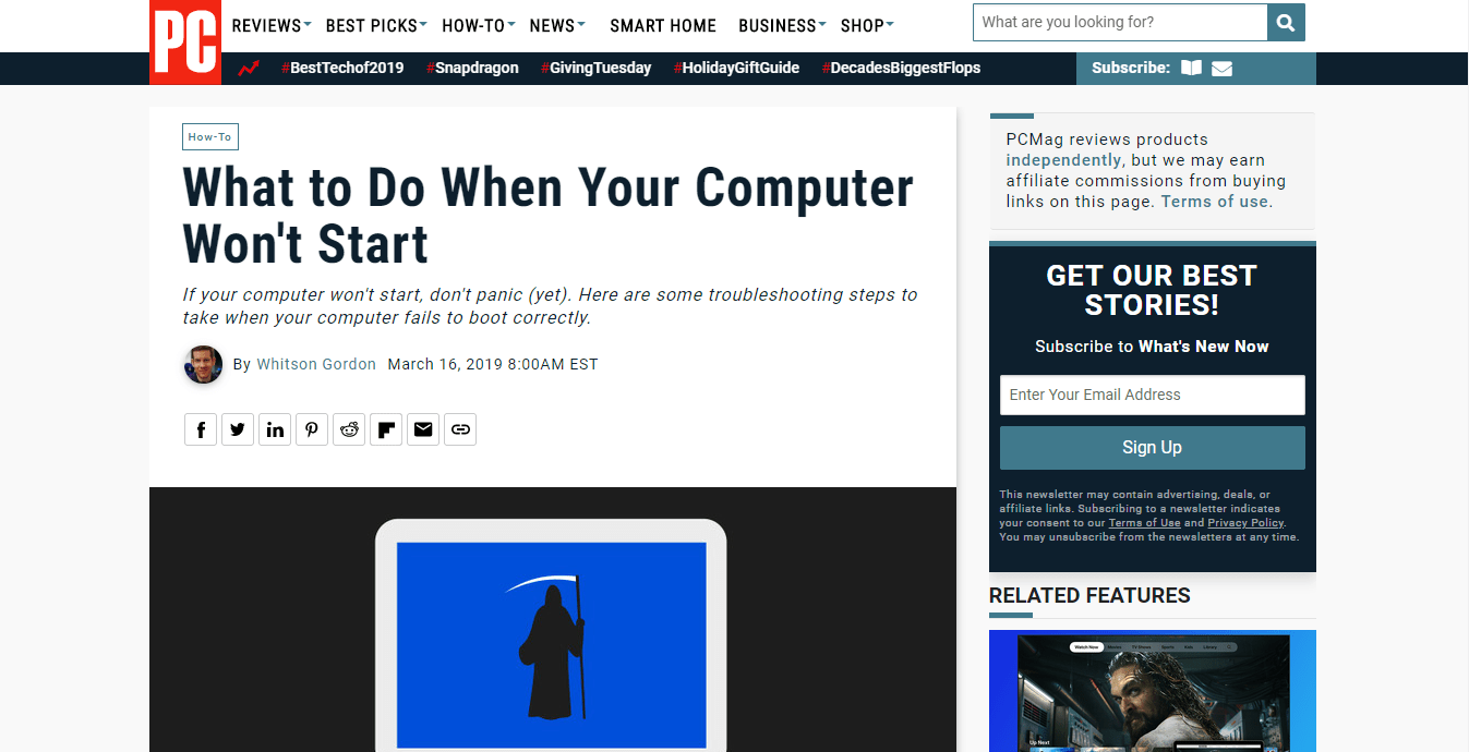 What to Do When Your Computer Wont Start