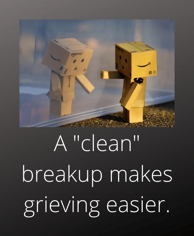 friendly breakup makes grieving easier