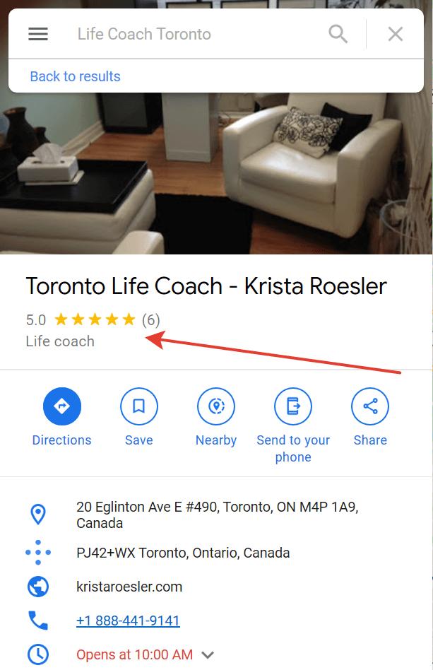 google maps life coach reviews