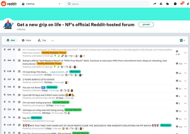 reddit nofap community