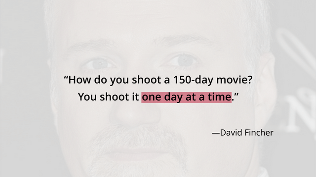 David Fincher quote - Day ONE NoFap Motivation